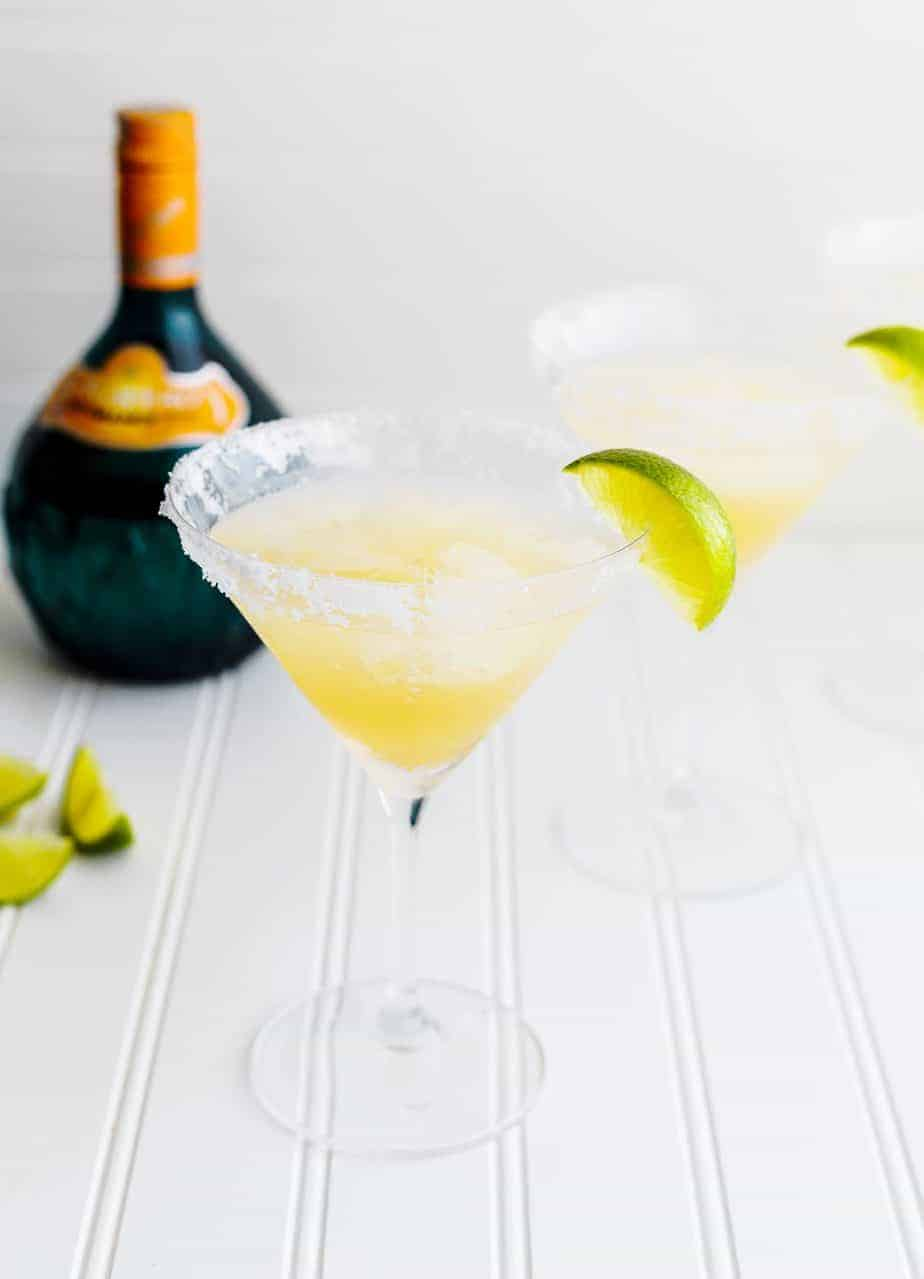 Orange Margarita Recipe with Ginger Syrup and Lime
