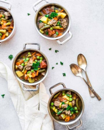 easy slow cooker vegetable beef soup recipe