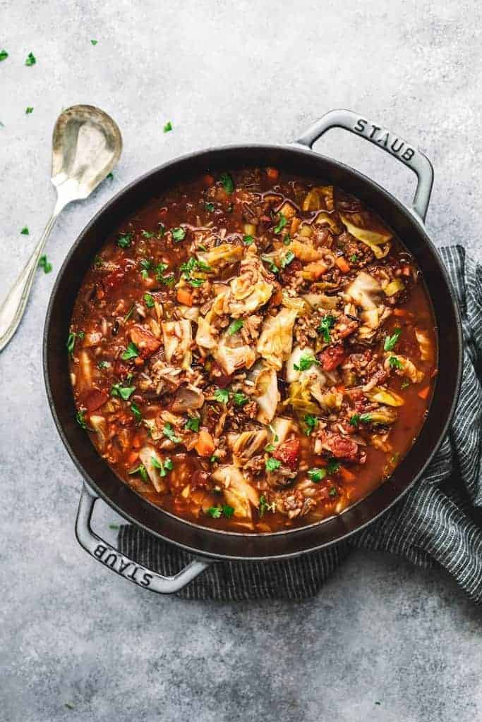 Slow Cooker Cabbage Roll Soup Posh Journal