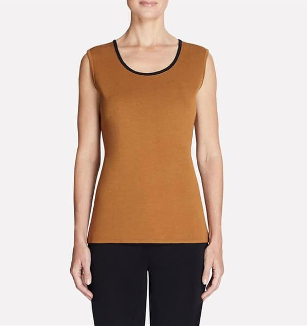 Misook Copper Tank with Black Trim
