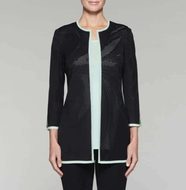 misook clothing promo code. POINTELLE SWIRL JACKET
