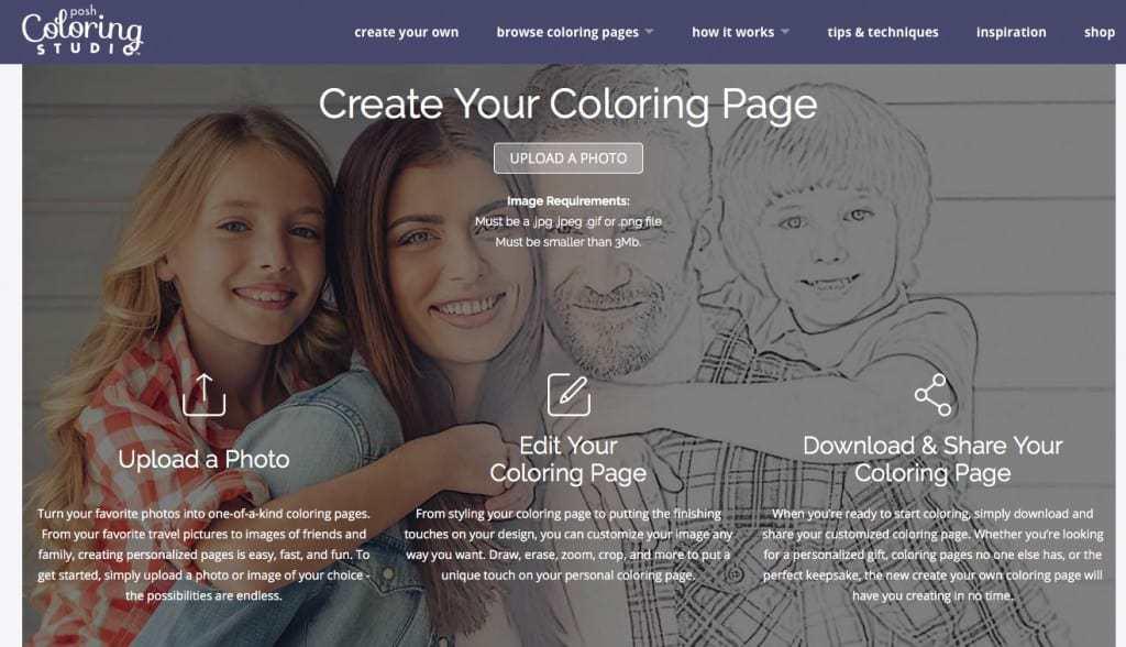 Coloring Page Posh coloring Studio