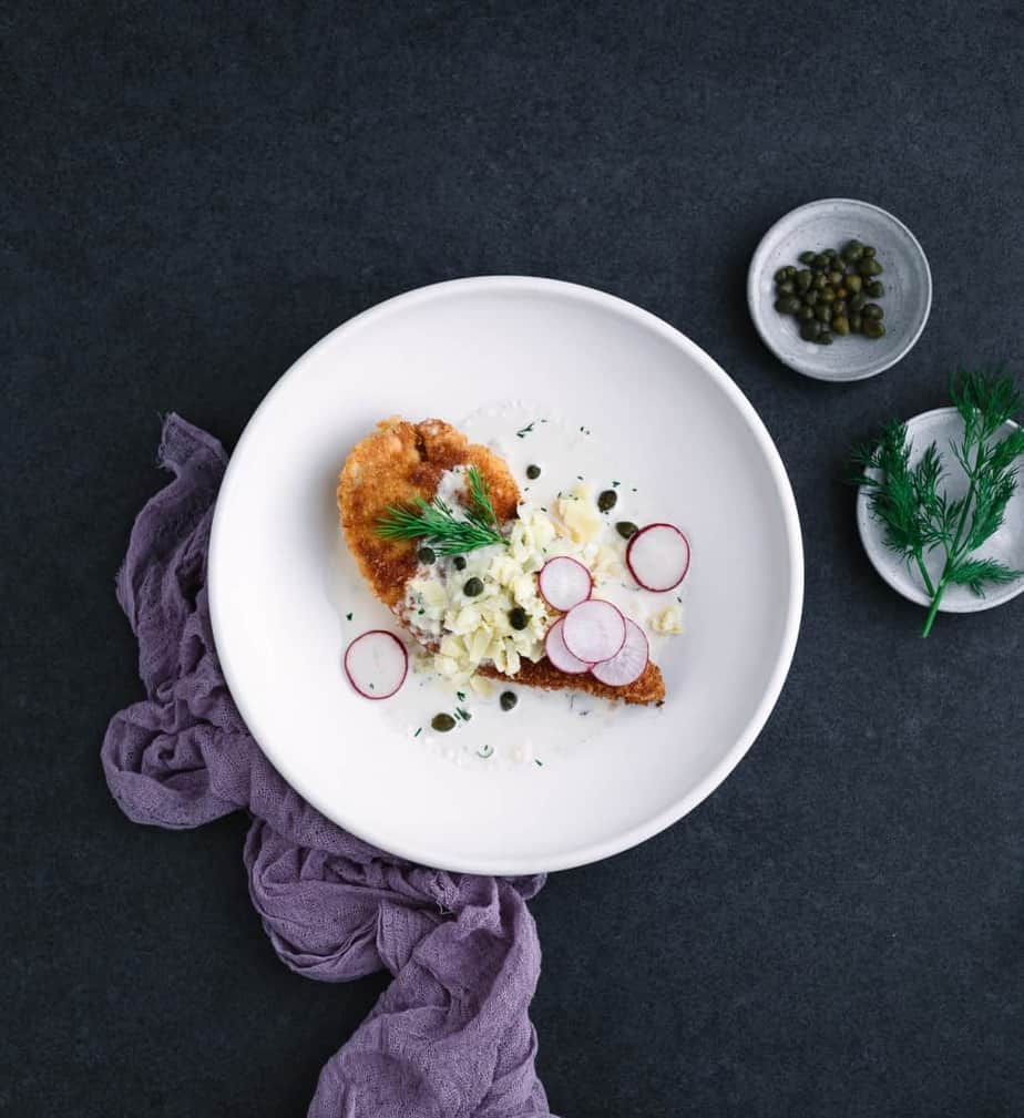Crispy Chicken Breast with Creamy Artichoke Sauce