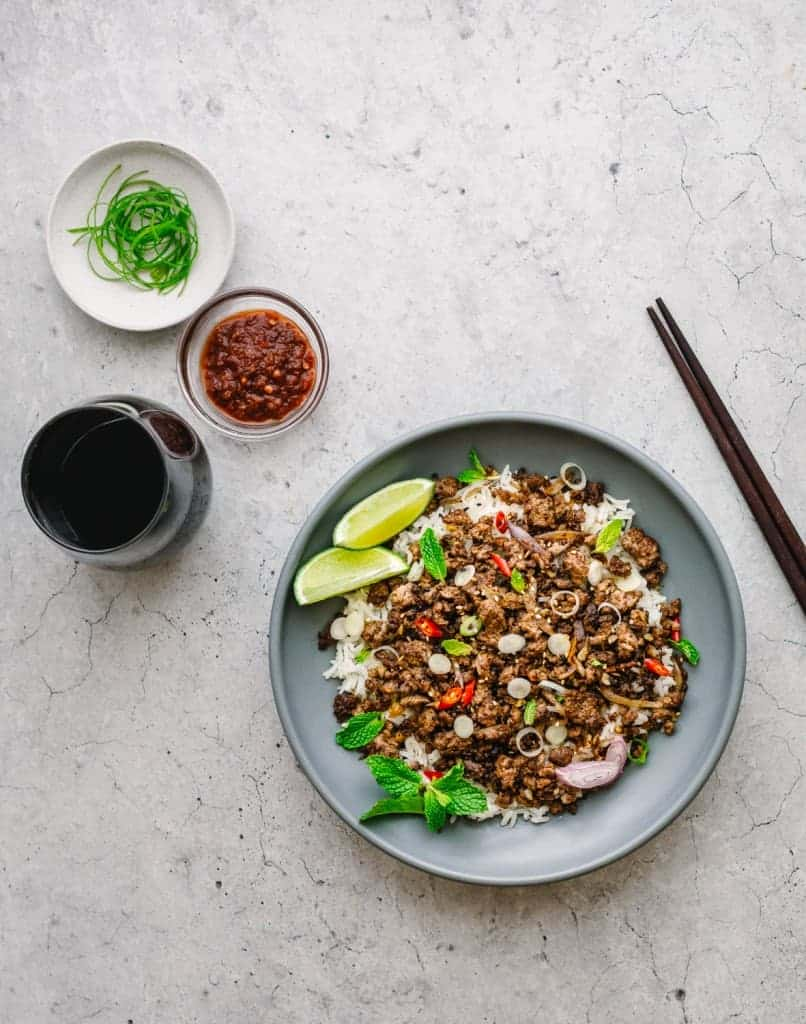 Asian Ground Beef Stir Fry