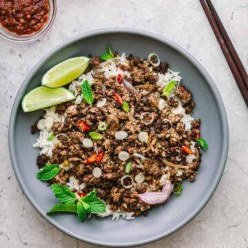 Asian Ground Beef Stir Fry