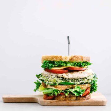 Mediterranean Garden Chicken Sandwich