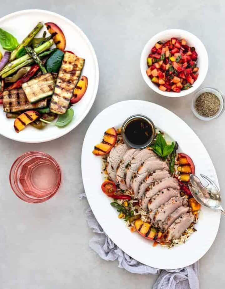 Pork Tenderloin with Strawberry Apple Salsa Recipe