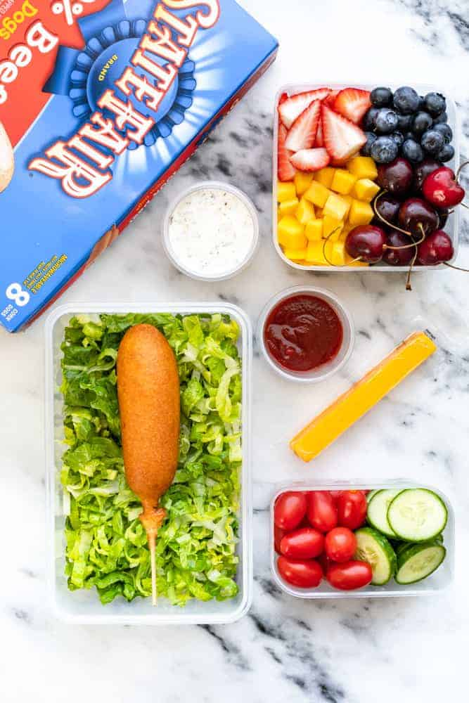 Non-Fat Yogurt Ranch Dip -How to Pack a School Lunch Your Kid Will Eat