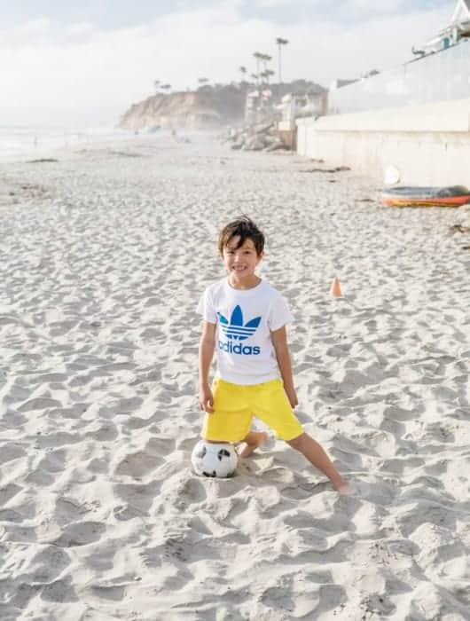 San Diego Beach Day: Soccer with the Family