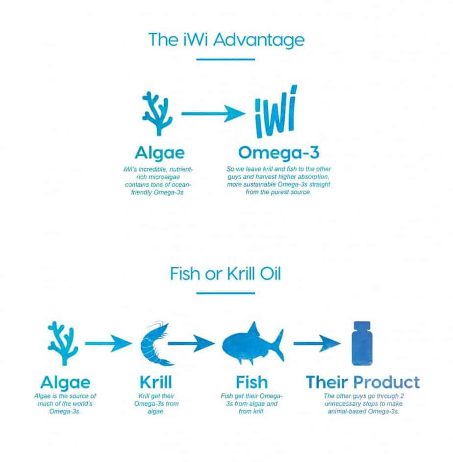 iWi Omega-3 Algea Supplement