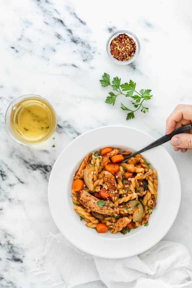 Delicious Tyson® Tomato Herb Chicken & Vegetable Pasta