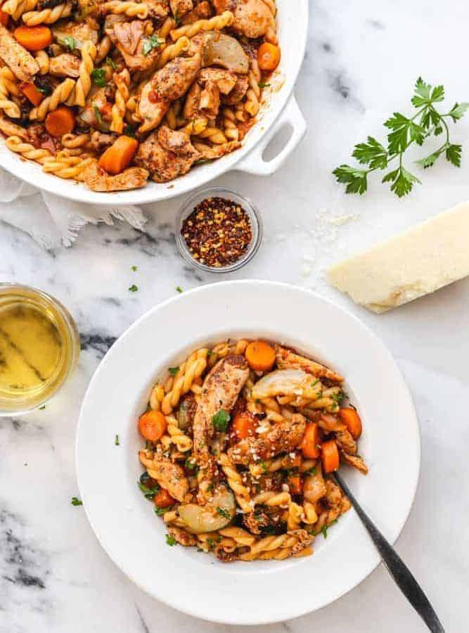Delicious Tyson® Tomato Herb Chicken & Vegetable Pasta