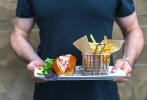 Precinct Kitchen + Bar at Loews Boston Hotel. Lobster rolls.