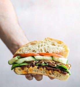 Turkey In the Garden Sandwich