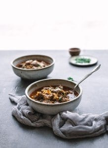 Instant Pot Lamb Stew with Apricots