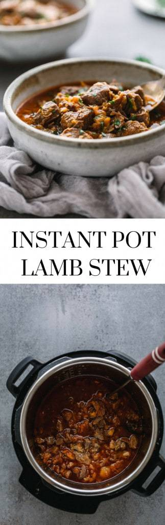 Instant Pot Lamb Stew with Apricots.