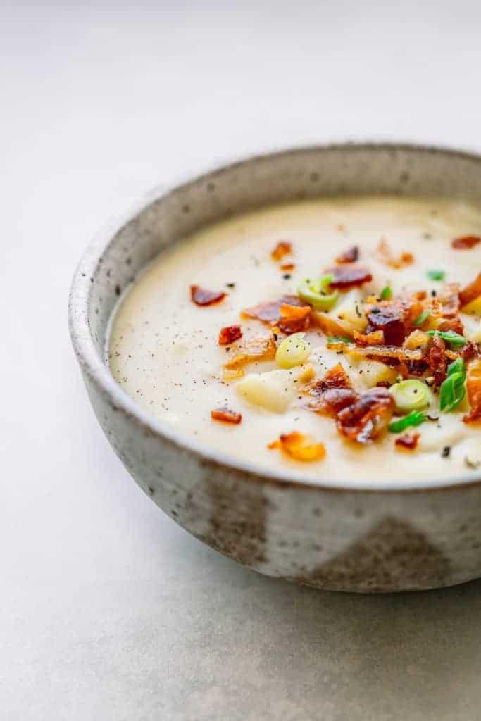 Loaded Instant Pot Potato Bacon Soup