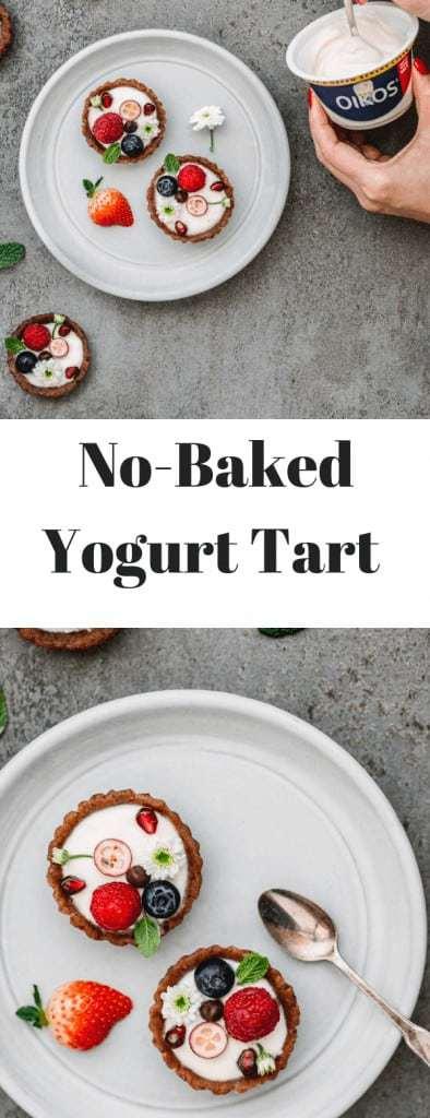 no baked yogurt tart