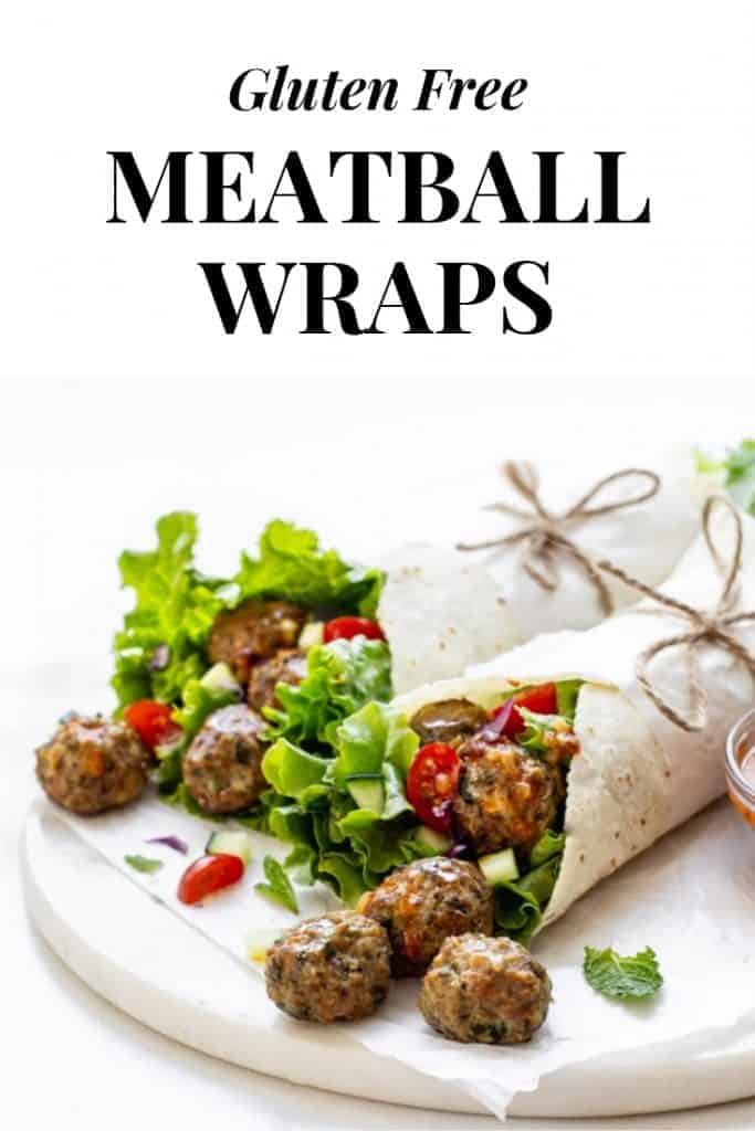 gluten free meatball wraps recipe from scratch.
