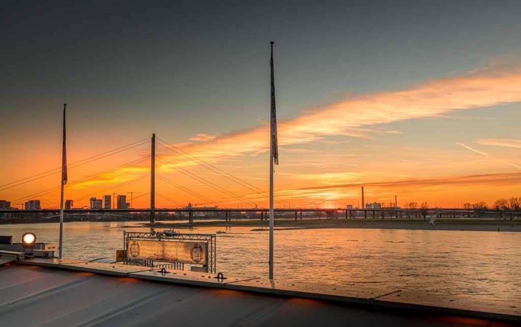 City Dusseldorf Germany Travel Tips Sunset