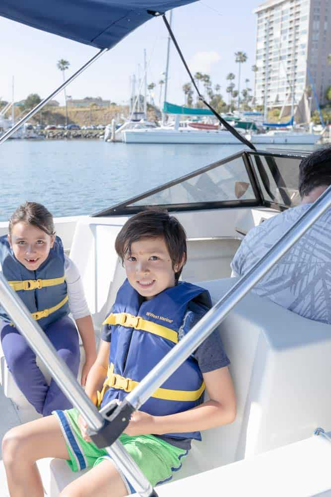 Beginner Boating in San Diego with kids