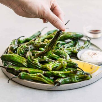 Blistered Shishito Peppers with Chipotle Seasoning