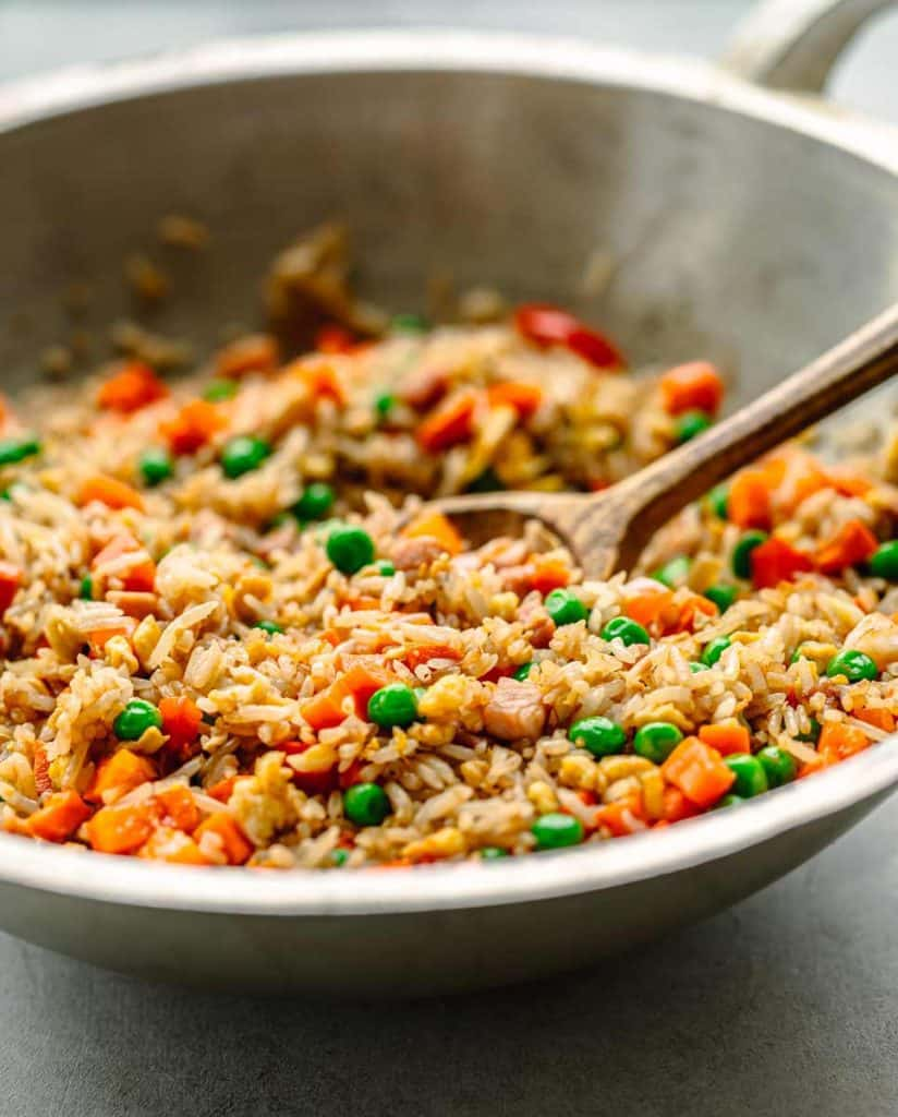 Fried Rice Recipe with Shrimp, Ham and Egg