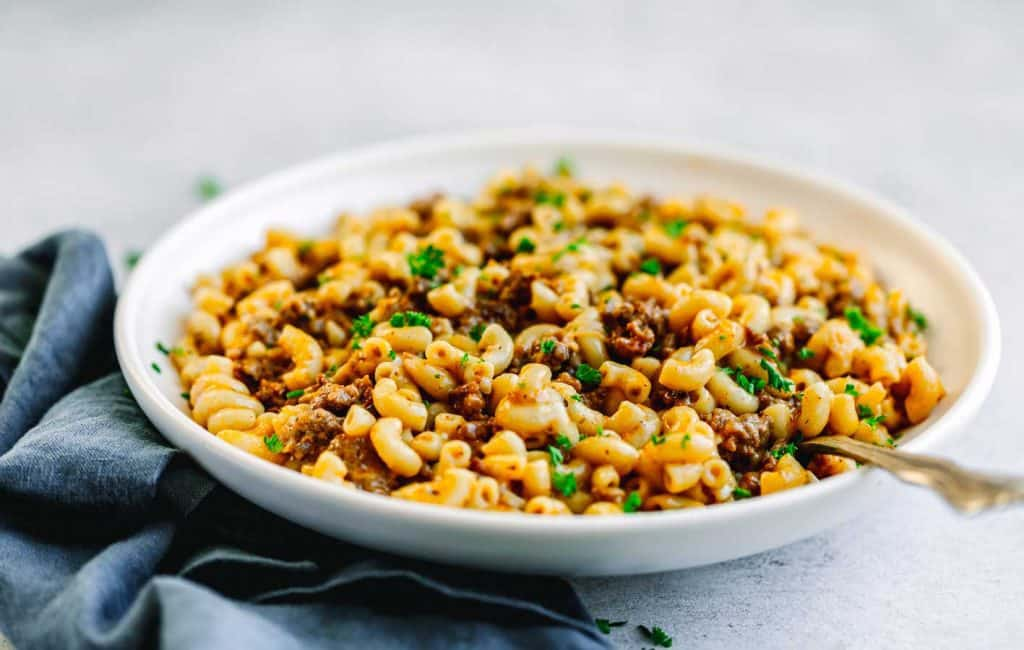 Pressure Cooker Ground Beef and Macaroni Pasta