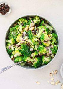vegetarian broccoli slaw