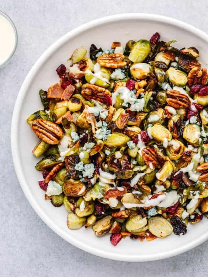 Crispy Brussels Sprouts with Bacon and Garlic Aioli