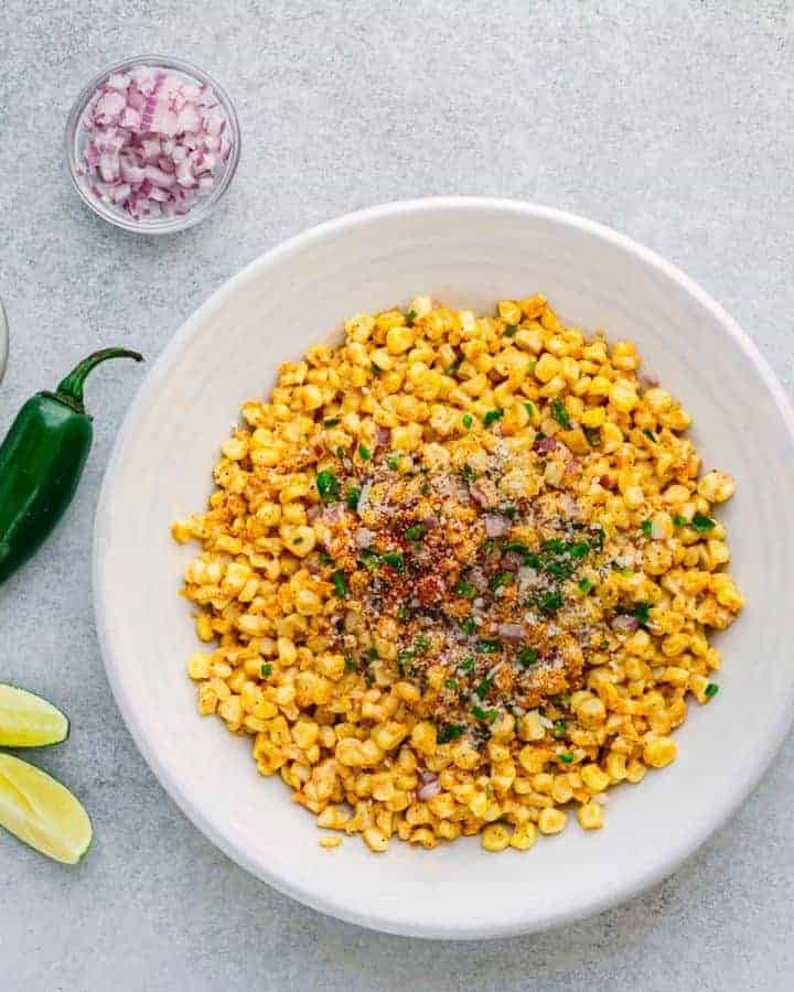 Elotes Mexicanos - Mexican Corn Salad