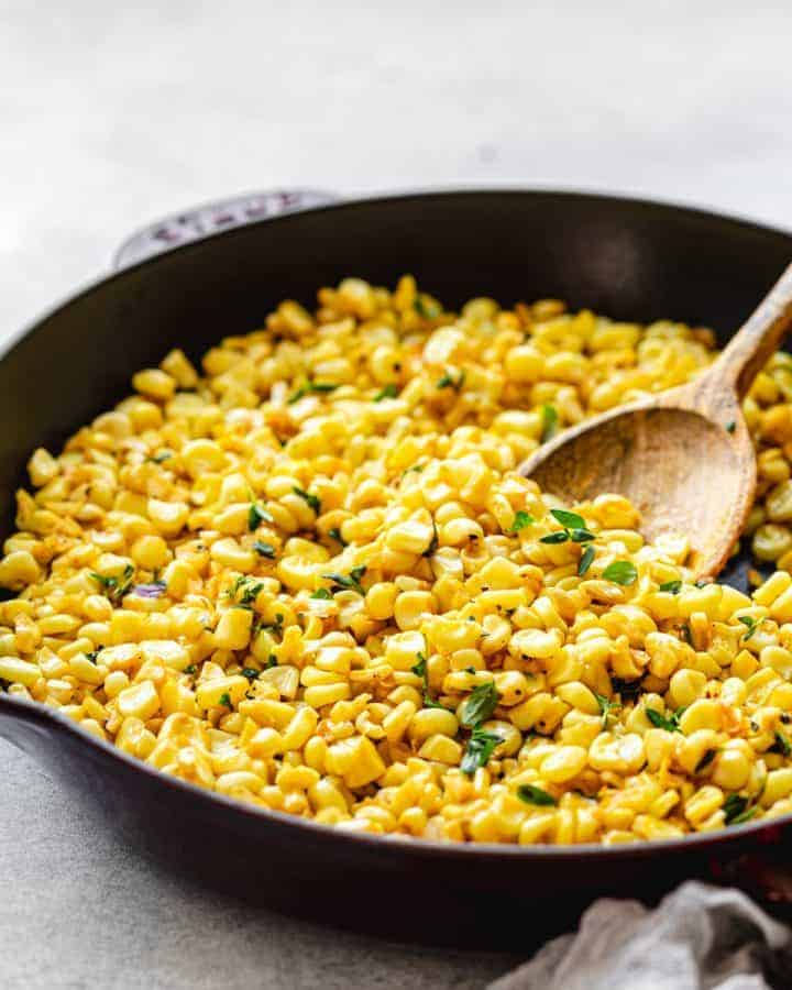 Buttery Skillet Fried Corn