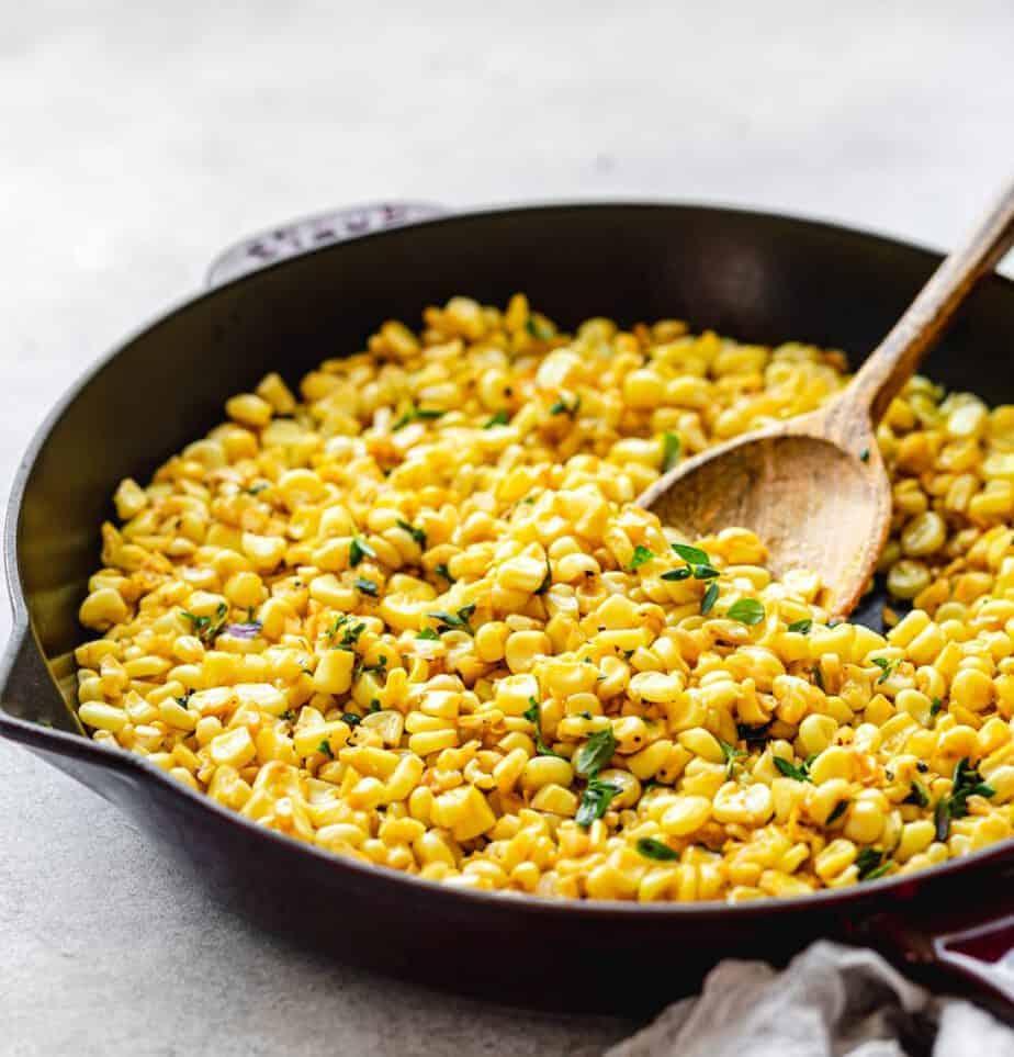 Buttery Skillet Fried Corn