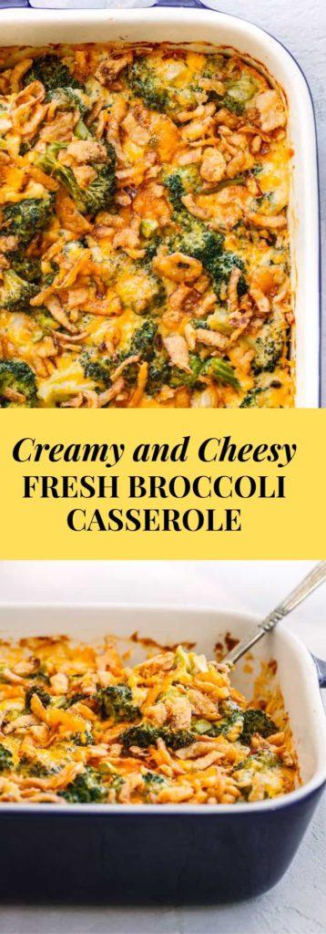 Cheesy Fresh Broccoli Casserole recipe.