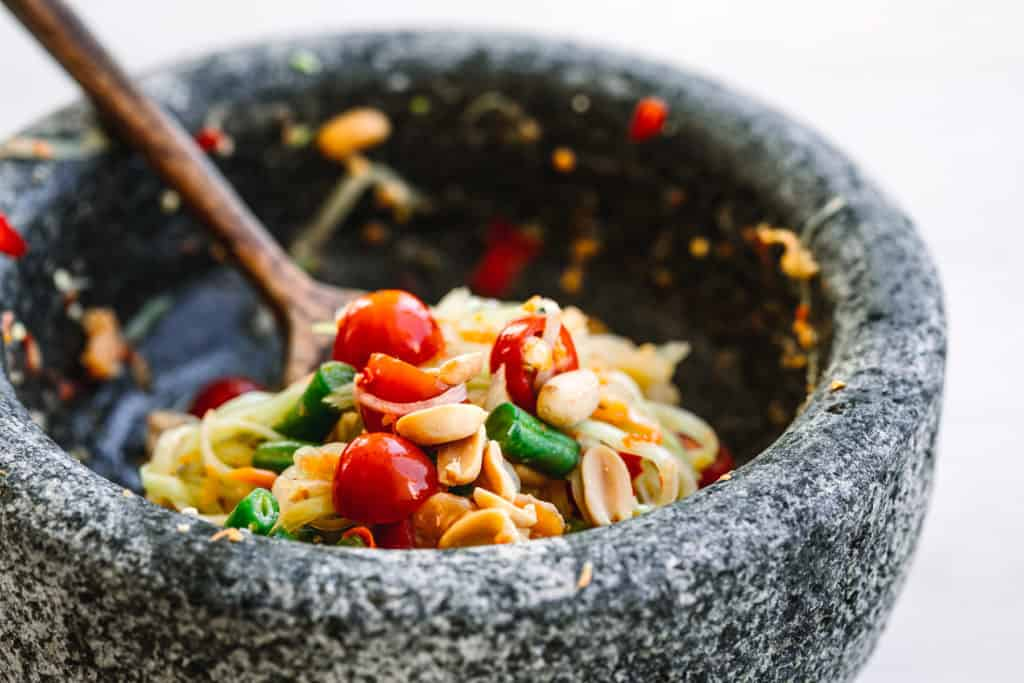 Green Papaya Salad Som Tam Recipe