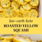roasted yellow squash with parmesan cheese