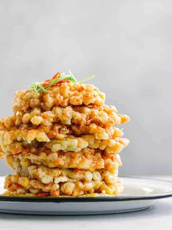 Indonesian Corn Fritters Perkedel Jagung