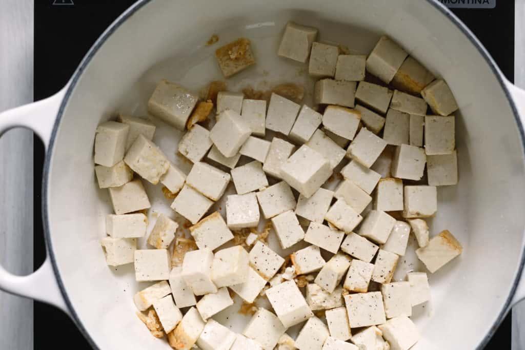 Tofu Cubes for Rancheros