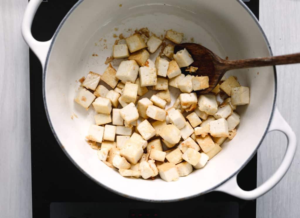 Pan-fried tofu