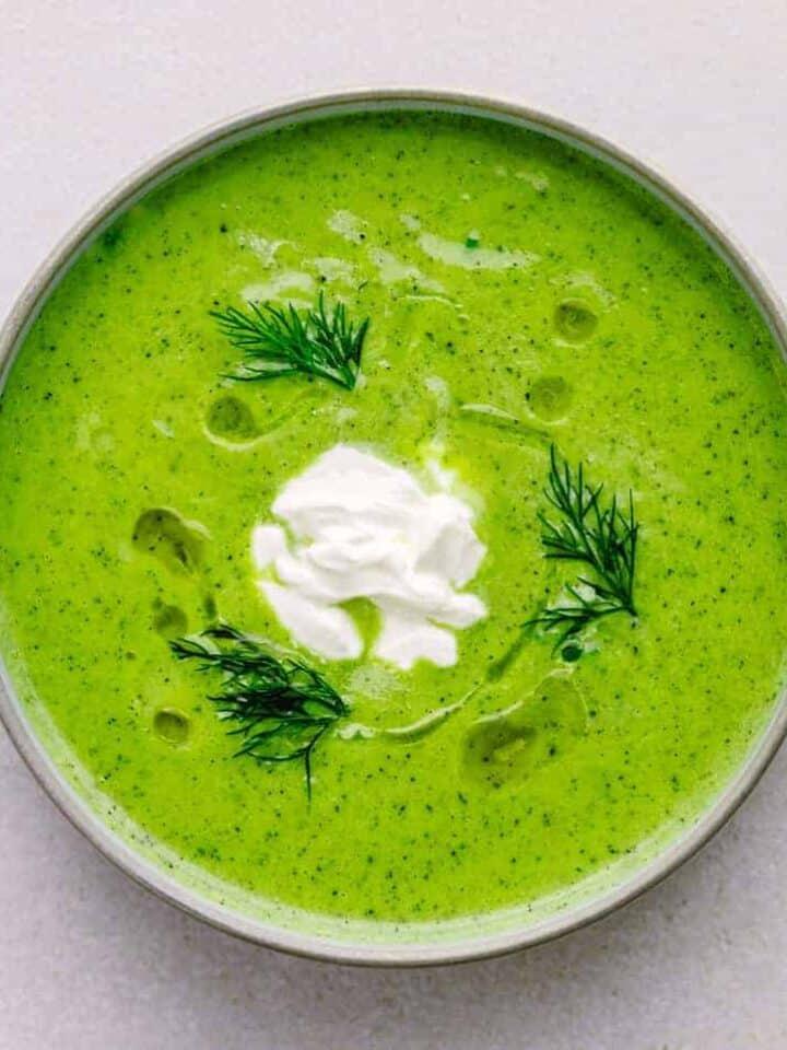 Courgette Soup Recipe (Creamy Zucchini Soup)