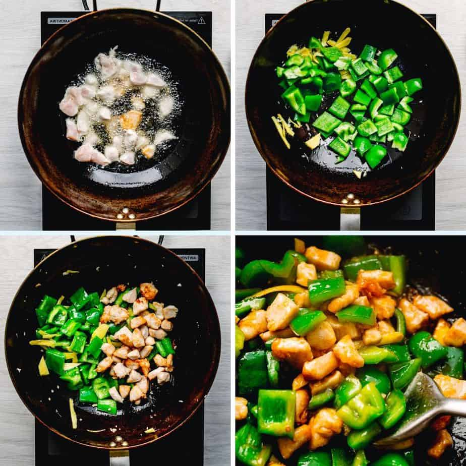 How to Stir Fry Ginger Chicken