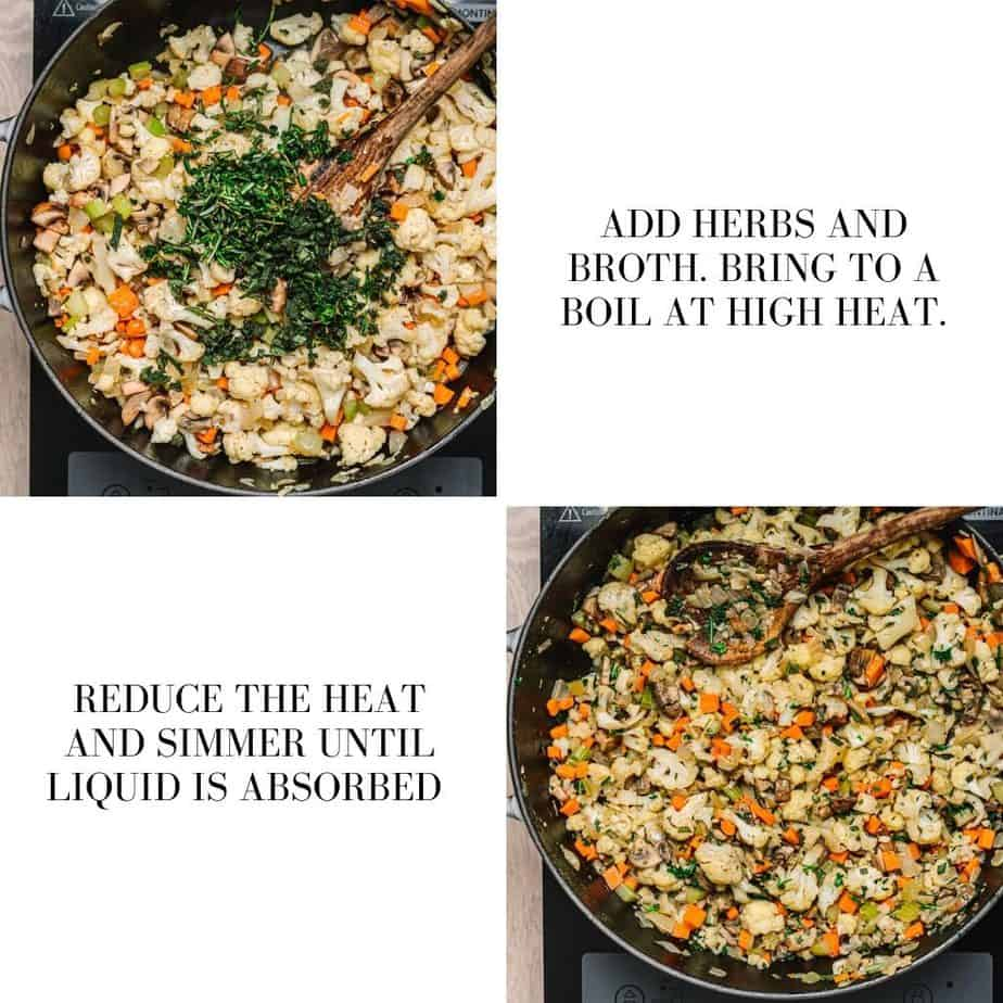 Low Carb Cauliflower Stuffing Recipe