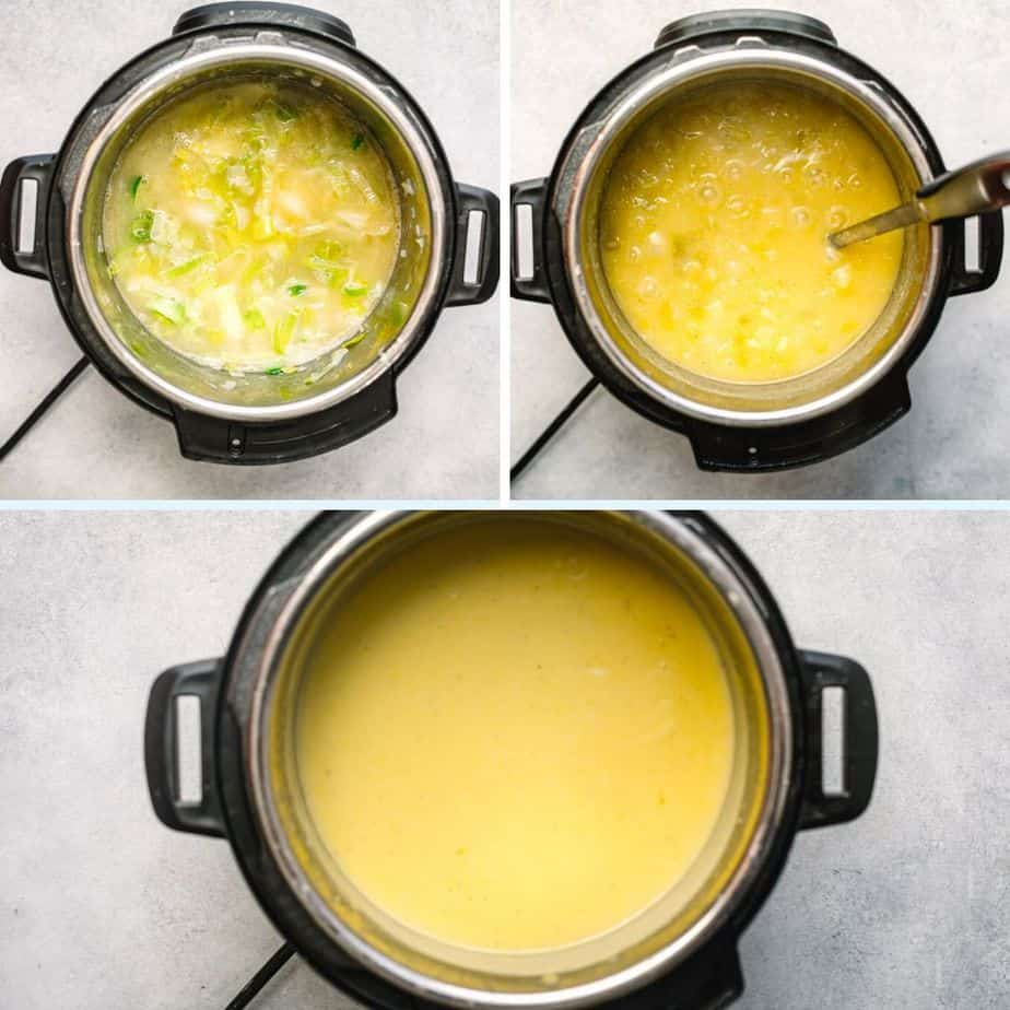 How to cook potato leek soup in a pressure cooker