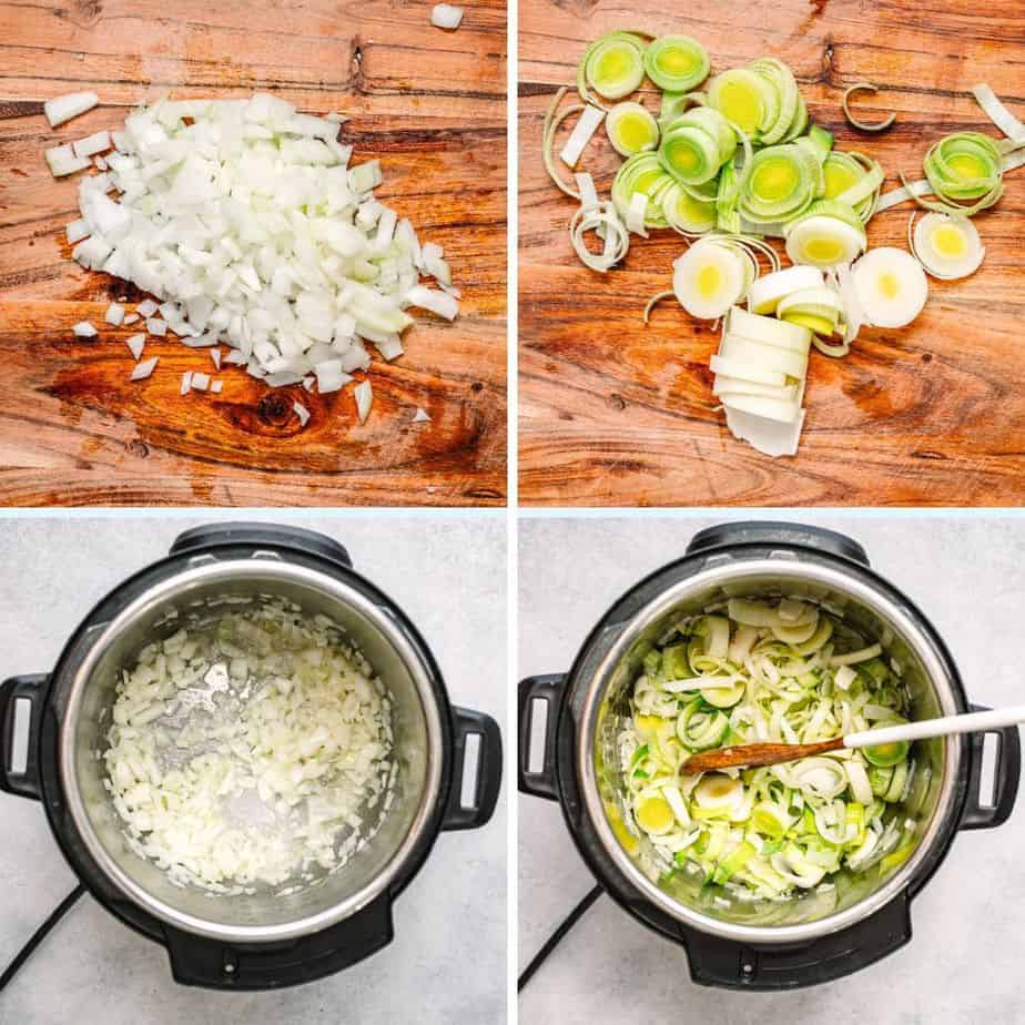 Learn how to make Instant Pot Potato Leek Soup