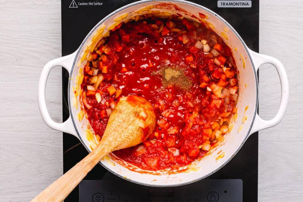 Israeli Couscous Soup
