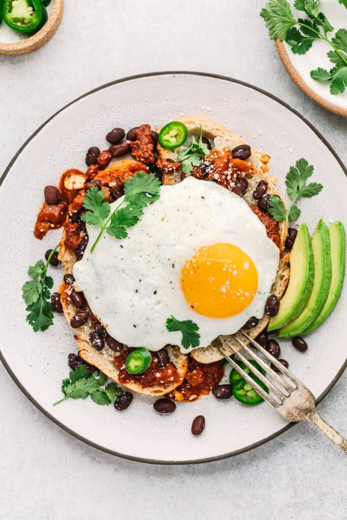 Mexican Breakfast Toast