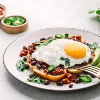 Mexican Breakfast Toast