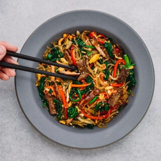 Korean Sweet Potato Noodles Japchae