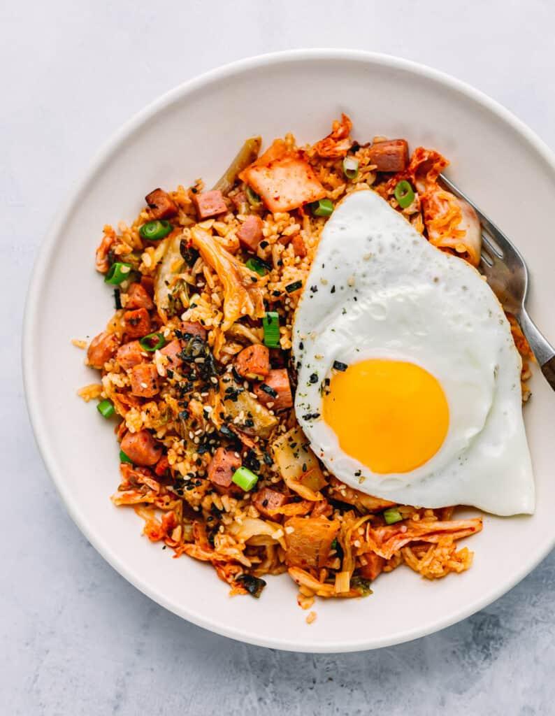 Spam Kimchi Fried Rice Bokkeumbap