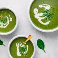 Spinach Potato Soup (Creamy and Gluten-Free)